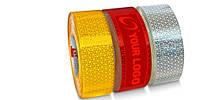 Светоотражающая лента Reflexite твёрдая поверхность.Красная,желтая,белая.
