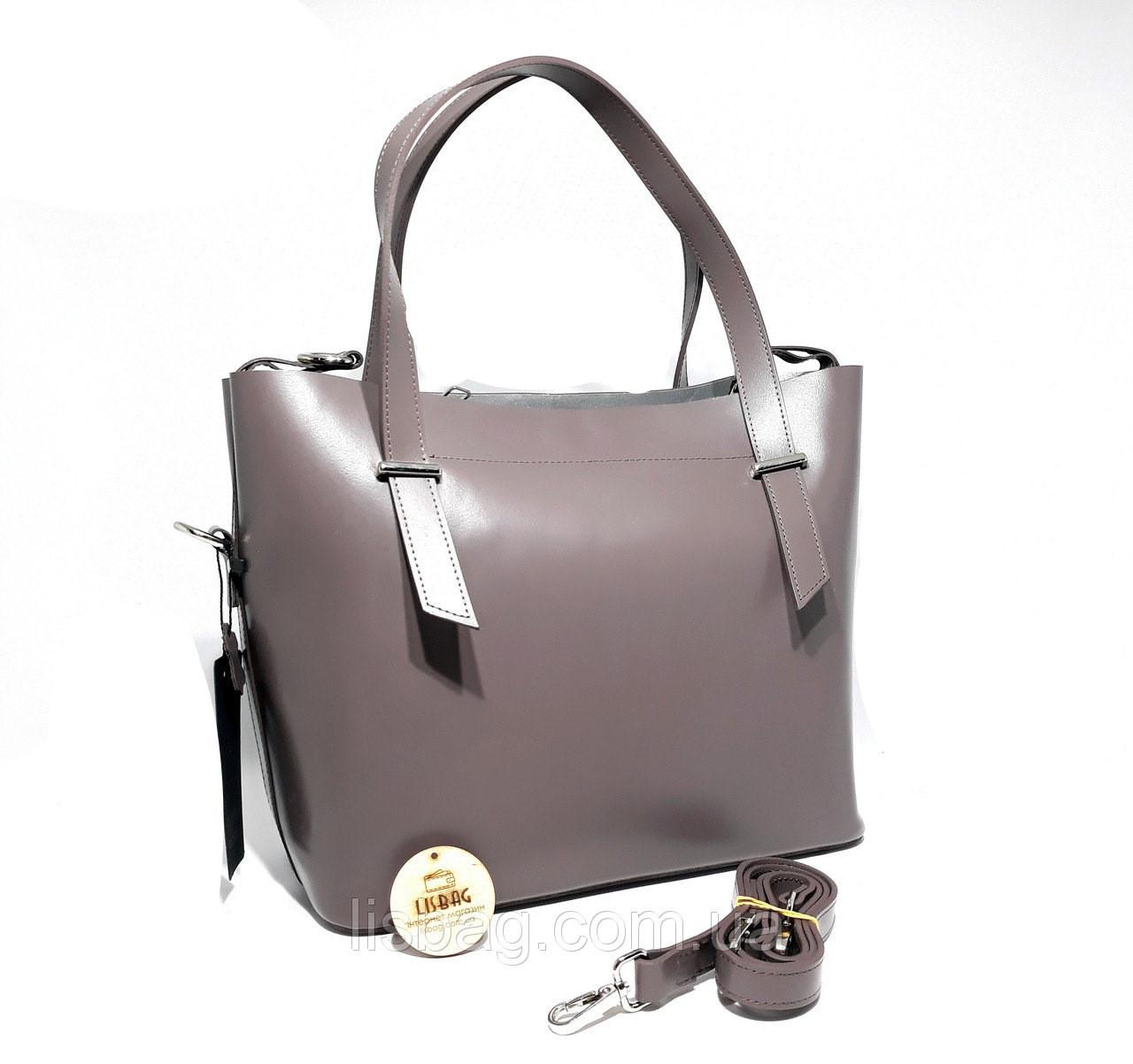 ca9710524f9d Женская сумка из натуральной кожи (Италии) модель 2018 года Фиолетовая -  Интернет магазин Lisbag