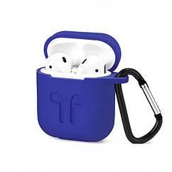 Чехол для наушников AirPods Silicone Case for AirPods Royal Blue Футляр для наушников