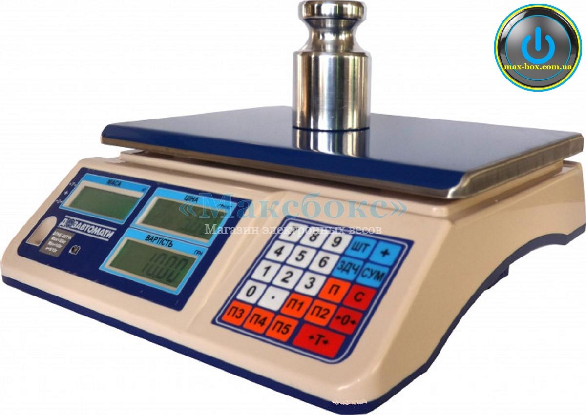 Торговые весы с поверкой до 30 кг ВТНЕ1 30Т1К (Дозавтоматы)