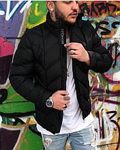 Мужской зимний пуховик Moncler D4320 черный