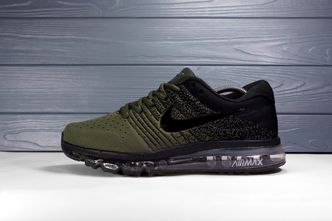 Мужские Кроссовки Nike Air Max 2017 зеленые