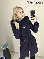 Женское пальто с капюшоном на кнопках, фото 1