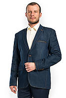 Джинсовый модельный мужской пиджак Victor Enzo 7035