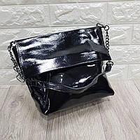 Женская кожаная сумка лаковая