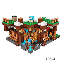 """Конструктор Bela 10624  Майнкрафт """"База на водопаде"""" 747 деталей (аналог LEGO 21134)"""