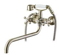 Смеситель для ванны с длинным изливом SANTEP 14900 Бронза