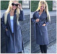 Женское кашемировое пальто с карманами 17880, фото 1