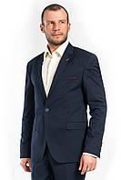 Тёмно-синий приталенный мужской пиджак Rodi 211
