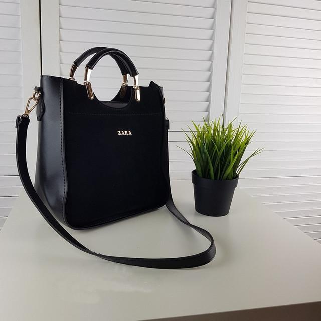 906d76797beb Черная замшевая женская сумка Zara, цена 580 грн., купить в Киеве ...
