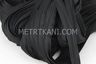 Молния рулонная черного цвета, Т3 (метражом и оптом) №149