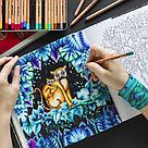 Раскраска антистресс Удивительные джунгли Книга для творчества и вдохновения (мягк переплет) , фото 4