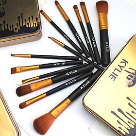 Набор кистей для макияжа Kylie Кайли черные 12 штук