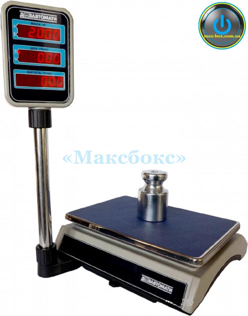 Весы торговые с поверкой 30 кг ВТНЕ/2 30Т2 с RS (Дозавтоматы)