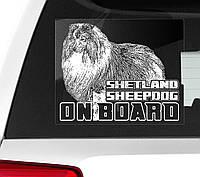 Наклейка на авто / машину Шетландская овчарка (шелти) на борту