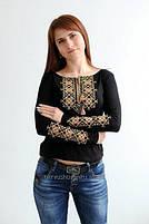 Жіночі вишиті футболки на довгий рукав