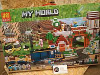 Конструктор Майнкрафт Lele Minecraft 33173 1080деталей