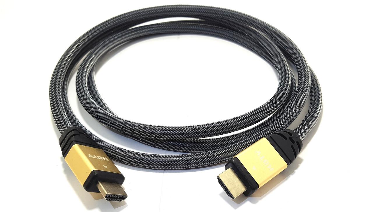 Кабель HDMI (шт.- шт.) version 2.0, gold, 2метра, в блистере