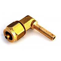 Фитинг к пластиковой трубки D-6mm угловой