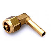 Фитинг к пластиковой трубки D-8mm угловой