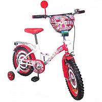 "Велосипед TILLY Автоледі 16"" Т-21628 white+crimson"