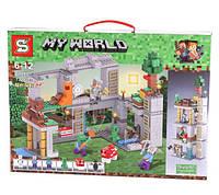 "Конструктор SY1040 ""Постройка"" (аналог Lego Майнкрафт), 732 дет"