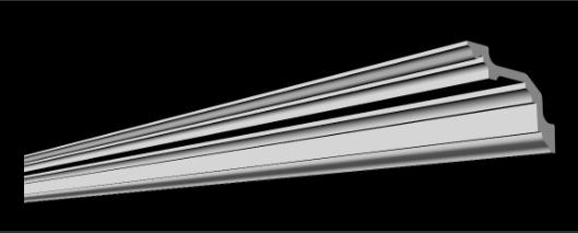 Стельовий плінтус 2м GP-68 127х80мм для натяжних стель