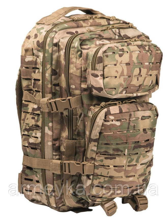 "Рюкзак USA Large Assault Pack ""Laser"" 36L, Multicam. Mil-tec, Германия."
