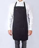 Фартук официанта черный, прочная спецткань, все размеры