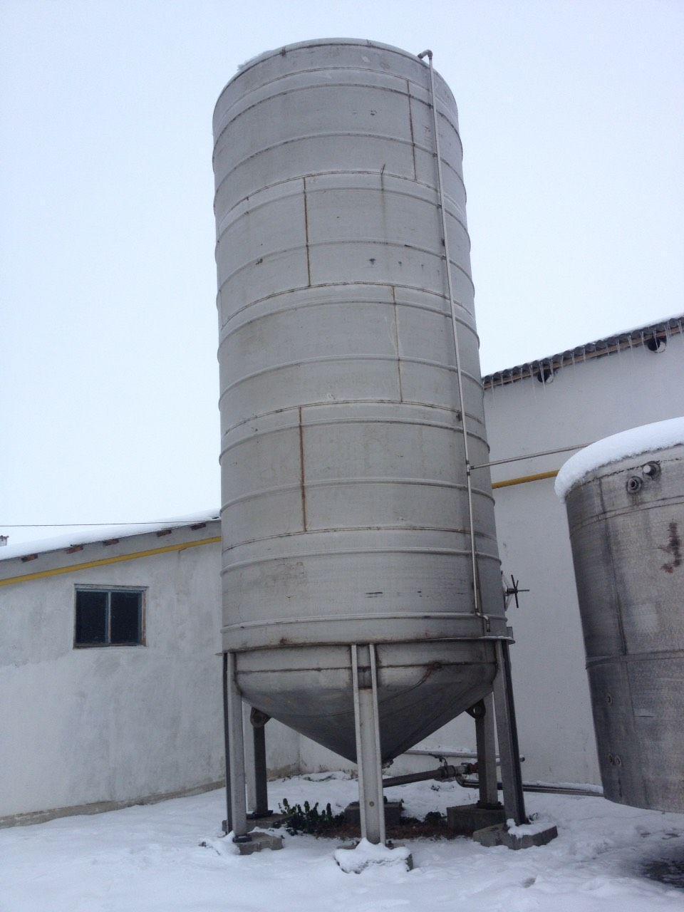 Емкость вертикальная нержавеющая А9 КЕС 50 м куб
