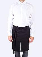 Передник черный из специализированной ткани, униформа для персонала, индивидуальный пошив, все размеры
