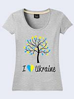Футболка 3D женская I love Ukraine тм Vilno, хлопок \ Vin - 11400