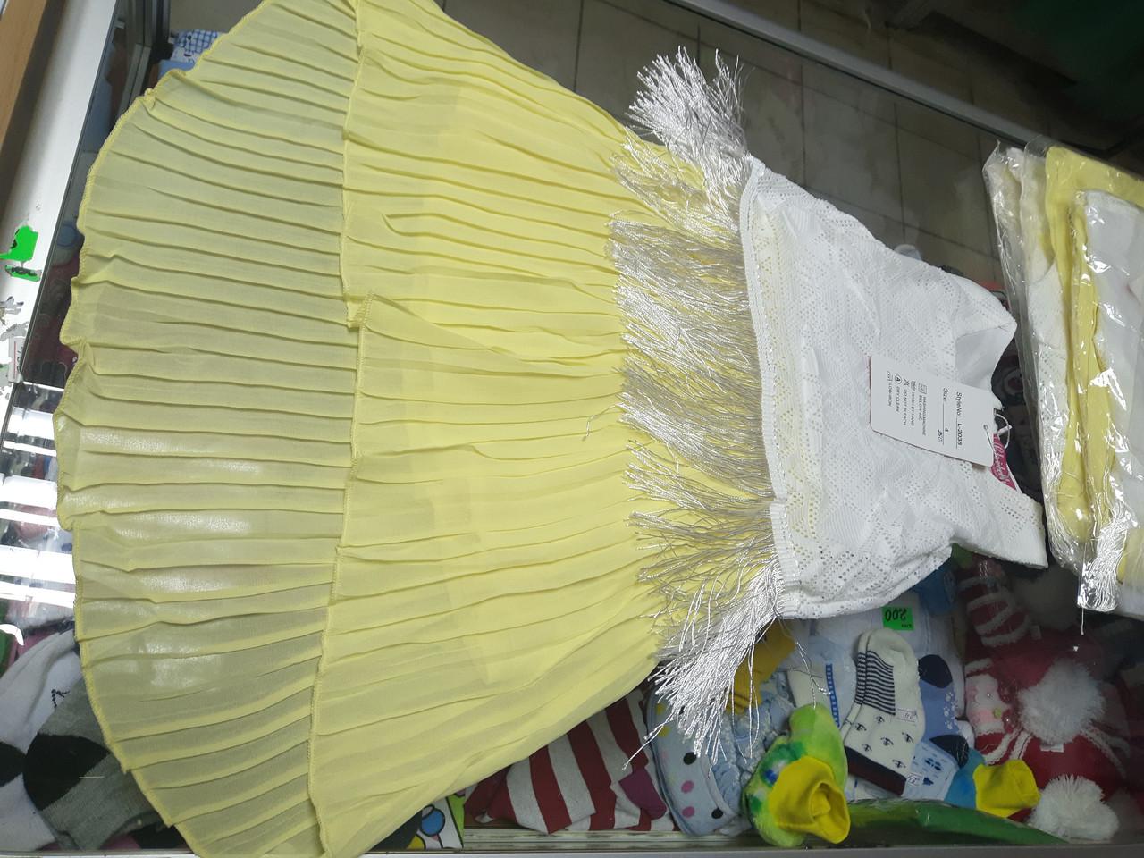 Летнее нарядное платье для девочки р. 116 - 128