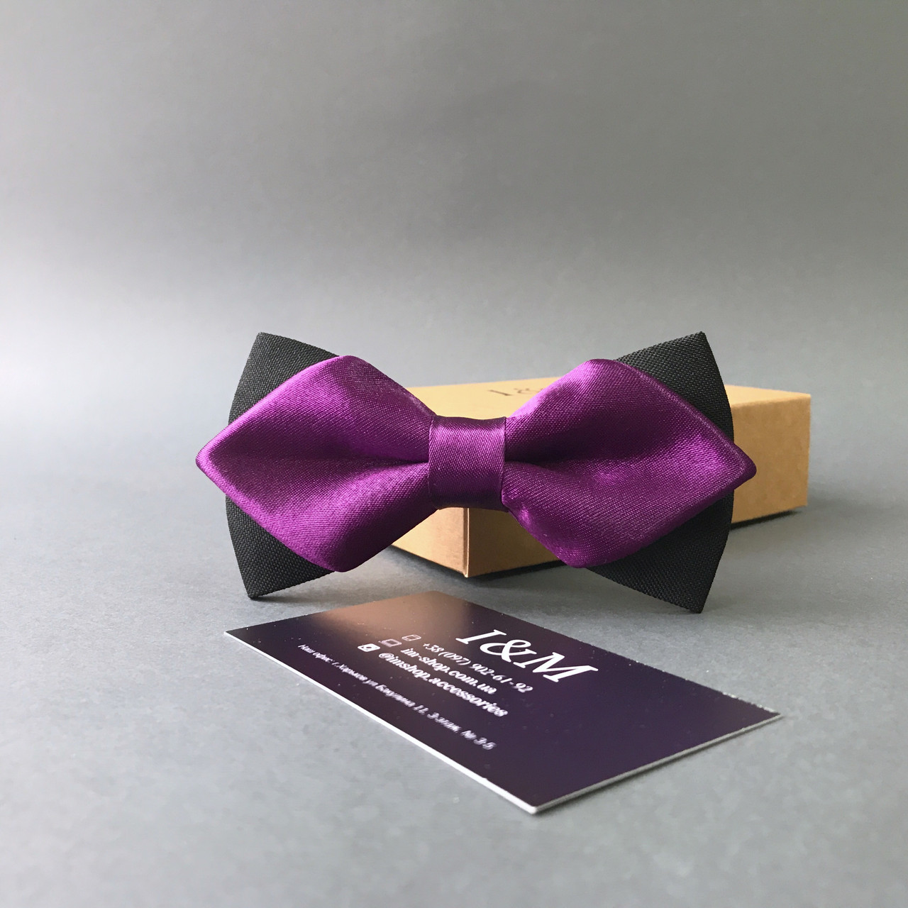 Краватка-метелик I&M Craft з гострими кінцями фіолетовий (100144N)