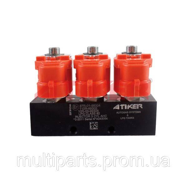 Газовые Форсунки Atiker AHC 3 Ohm на 3 цилиндра