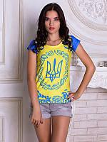 Футболка 3D женская Герб Украины тм Vilno \ Vin - 11401