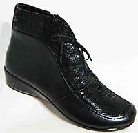 Ботинки демисезонные из натуральной кожи большого размера от производителя модель В3127-8