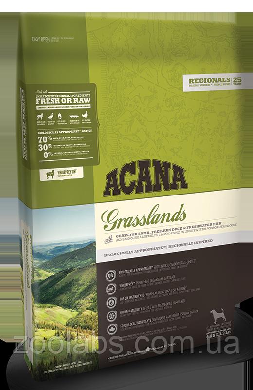 Корм Acana для собак и щенков ягненок с уткой | Acana Grasslands Dog 6,0 кг