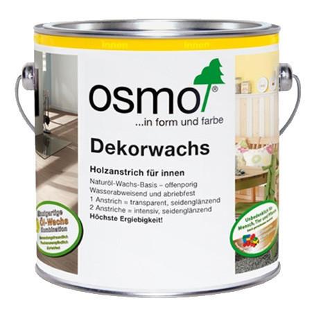 Універсальне кольорове масло Osmo Dekorwachs Intensive tone 3186 біле матове 0.375 л