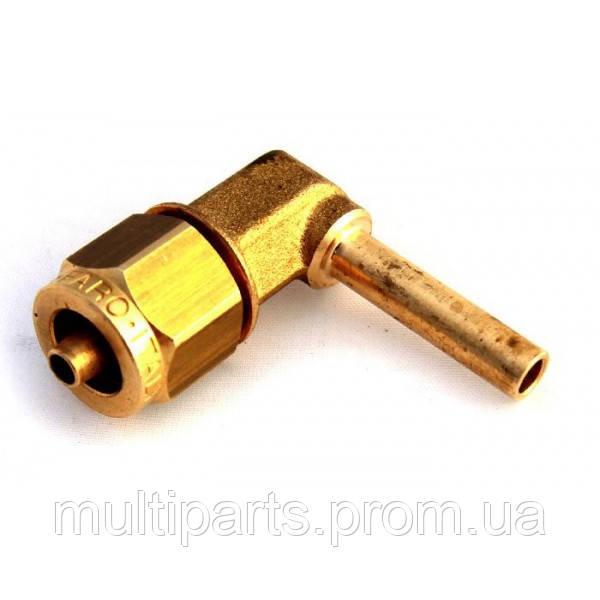 Фитинг к пластиковой трубки D6\8 mm угловой