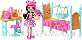 Набор Кукла Enchantimals Брен Мишка и Снорр Спальня мечты Брен Миши Dreamy Bedroom Playset FRH46