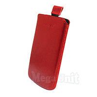 Кожаный чехол Lenovo S820. Mavis Premium Красный