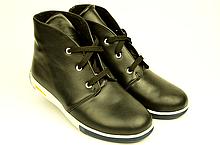 Ботинки детские для мальчика натуральная кожа черные  зимние и демисезонные от производителя KARMEN 253104