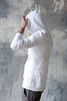 Пляжна легка сорочка з капюшоном з натурального льону батал і стандарт 42-74+ розмір
