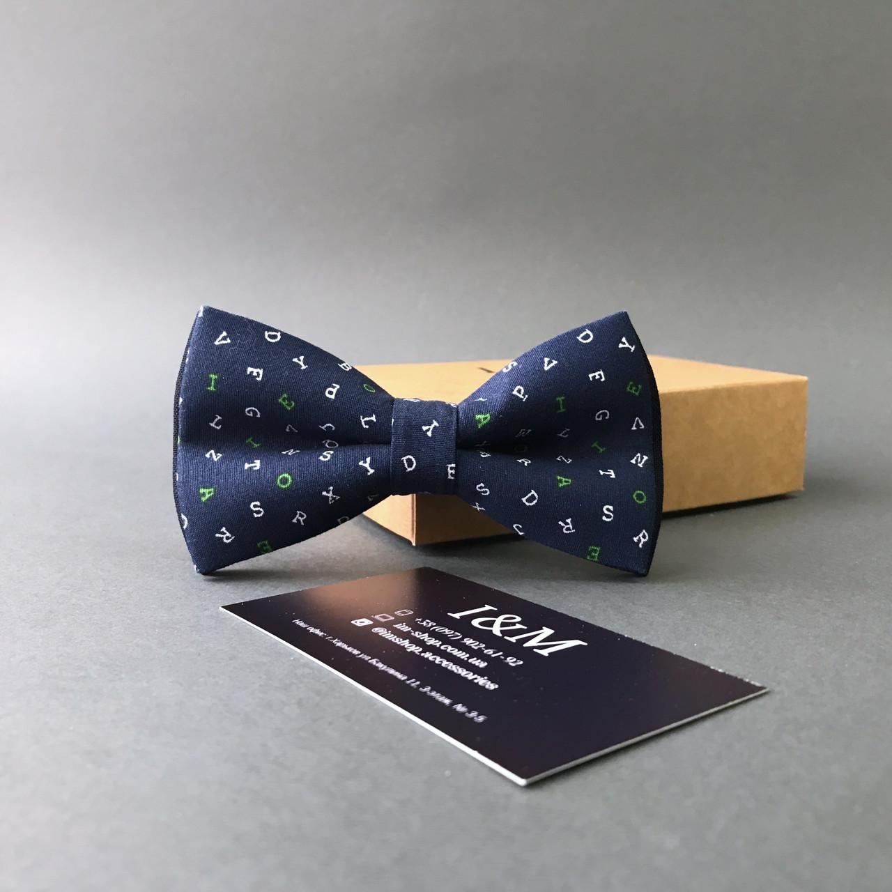 Галстук-бабочка I&M Craft синий (010248)