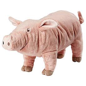 IKEA KNORRIG (602.604.48) М'яка іграшка, порося, рожевий