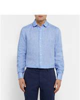 Классическая рубаха из натурального льна размеры (можно отдельно) XS-8XL. Олдскульный стиль, фото 1