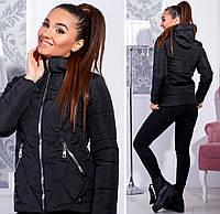 Женская куртка с капюшоном осень / зима / весна синтепон 200