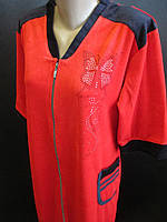 Женские качественные велюровые халаты., фото 1