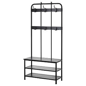 IKEA PINNIG (203.297.89) Вішалка для одягу з лавою, чорна